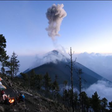 Camping Next to An Erupting Volcano – Guatemala, Central America