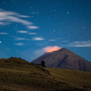 Night Timelapse Of Popocatepelt – Mexico, North America
